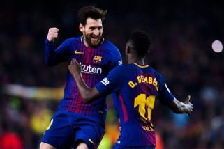 Barca dan Atletico bersusah payah raih kemenangan tipis