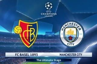 Manchester City lumat Basel dalam 23 menit pertama di Liga Champions