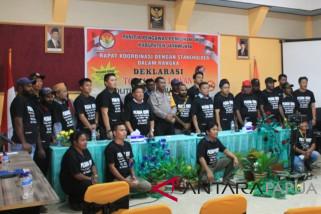Penegak hukum Jayawijaya deklarasi lawan politik uang