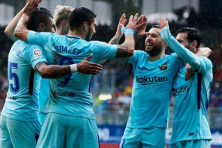 Barcelona atasi Eibar 2-0