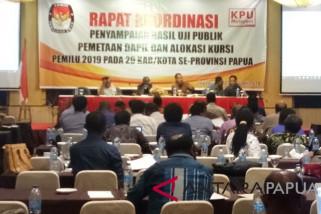 Komisioner KPU se-Papua ikut rakor uji publik