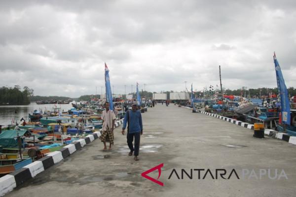 Pelabuhan pendaratan ikan Pomako Mimika