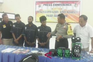 Polres Biak Numfor ciduk komplotan pencuri barang elektronik