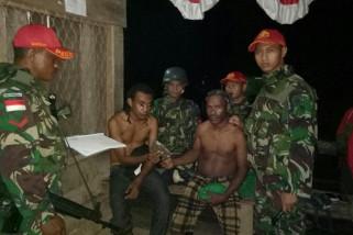 Prajurit Yonif 501 Kostrad amankan tiga warga bawa ganja