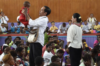 Presiden Jokowi diangkat jadi Panglima Perang Asmat