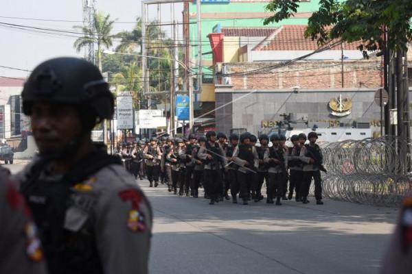 Pengamanan pascakerusuhan di Mako Brimob