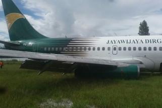 Pesawat Jayawijaya Dirgantara Air tergelincir di Bandara Wamena