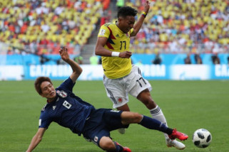 Jepang ungguli Kolombia 2-1 di penyisihan grup H