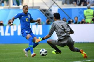 Brasil kalahkan Kosta Rika 2-0 di ujung laga