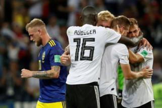 Jerman menang dramatis 2-1 atas Swedia