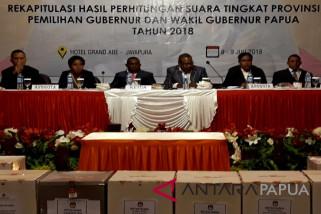 KPU Papua lanjutkan rapat pleno rekapitulasi suara pilgub
