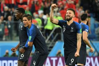 Prancis unggul 2-1 atas Kroasia pada babak pertama