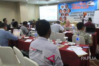 Dinkes Papua latih jurnalis guna mendukung kampanye campak-rubella polio