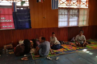 Pengungsi Kenyam di Asmat