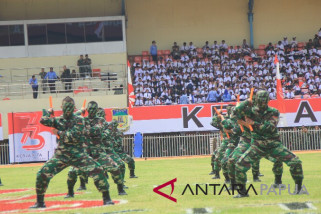 Tim beladiri Yonif 751 Raider meriahkan peringatan HUT Kemerdekaan RI