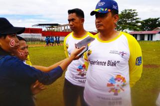 Danlanud Biak fasilitasi keberangkatan SSB ke Makassar
