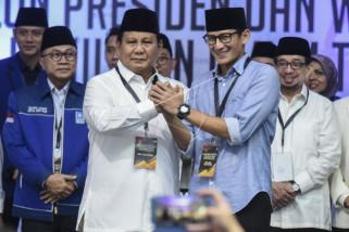 Prabowo-Sandiaga Uno mendaftarkan diri ke KPU