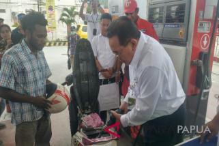 Pertamina Maluku-Papua berikan hadiah langsung kepada konsumen
