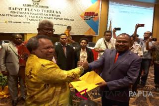 KPU Papua tetapkan Bupati-Wabup Mimika terpilih