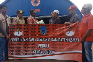 Pemkab Asmat bantu korban gempa Lombok