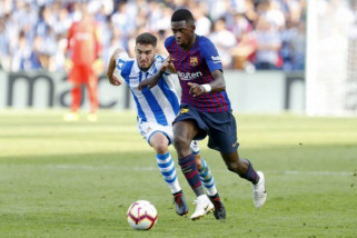 Barcelona susah payah kalahkan Sociedad 2-1