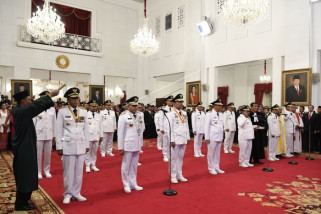 Pelantikan sembilan kepala daerah provinsi