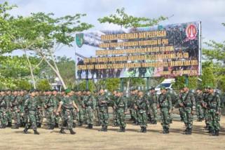 Kasdam Cenderawasih pimpin pelepasan dan penerimaan Satgas Perbatasan RI-PNG