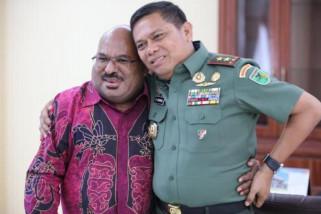 Hari pertama bekerja Pangdam Cenderawasih temui Gubernur Papua