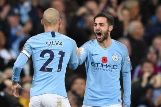 Liga Inggris - Manhester City kembali ke puncak klasemen setelah tundukkan MU