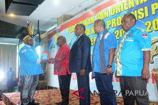 Gubernur minta KNPI Papua siapkan SDM guna menyukseskan PON