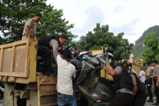 Polisi kembali sita puluhan sepeda motor curian dari rusunawa Waena