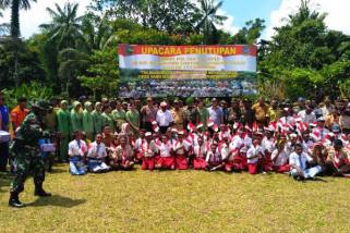 Satgas TMMD di Sarmi bangun gereja dan balai kampung