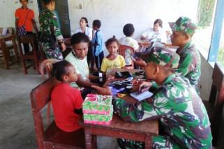TNI gelar pengobatan massal di perbatasan RI-PNG