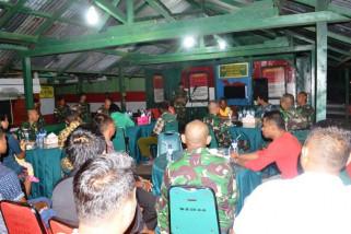 Yonif 644/WLS gelar perpisahan dengan warga perbatasan RI-PNG