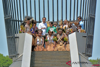 Peresmian monumen kapsul waktu disambut dengan #kapsulharapanindonesia