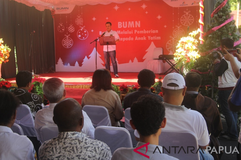Pidato GM Pertamina Maluku-Papua terkait BHUN penyaluran bantuan