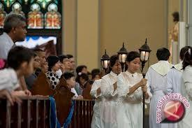 Ribuan Umat Kristen Palu Peringati Paskah