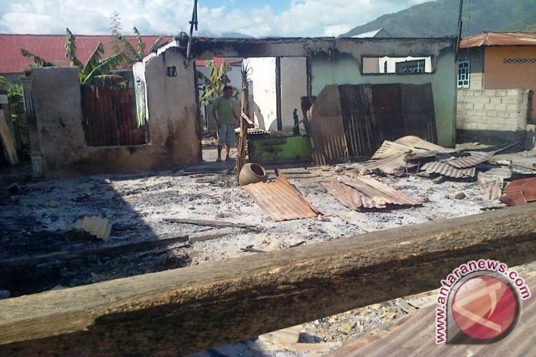 Barak Brimob Kepulauan Riau Terbakar