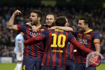 Barcelona ungguli Madrid delapan poin usai libas Malaga 2-0