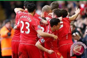 Liverpool naik ke peringkat kedua klasemen Liga Inggris