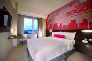 Kamar Hotel Fave Padjajaran di Bogor
