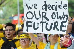 Unjuk Rasa Malaysia Hadir Di Dunia Maya