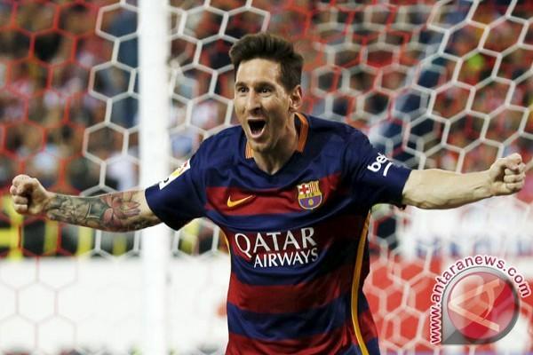 Messi pencetak gol terbanyak sementara Liga Spanyol