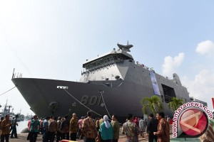 Menhan lepas ekspor kapal perang kedua buatan PT PAL