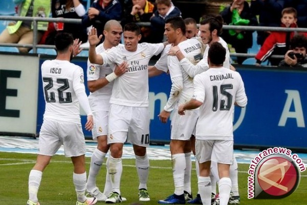Klasemen La Liga, Real Madrid teratas, Sevilla posisi dua