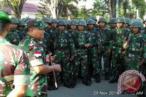 Danrem Tadulako Minta TNI Humanis Hadapi Demonstran