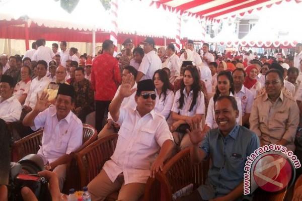 Prabowo puji sukses Longki Djanggola besarkan Partai Gerindra Sulteng