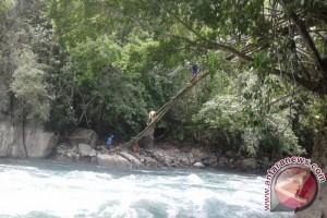 Warga Kuku bikin jembatan gantung untuk bertahan hidup