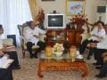 Gubernur Sulawesi Tengah Longki Djanggola, Meneriman Staf Ahli Menteri Pekerjaan Umum dan Perumahan Rakyat Lucky H.  Korah dan Sekdirjen Sumber Daya Air, Rabu (1/3). Pertemuan ini membahas penataan aset Kementerian PUPR yang ada di Sulawesi Tengah.