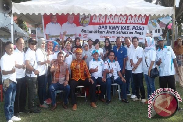 Donor darah KNPI meriahkan HUT ke-122 Kota Poso